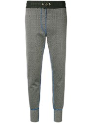 Tommy Hilfiger Checkered Slim Fit Track Trousers Black