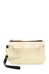 Poverty Flats Faux Leather Wristlet Yellow