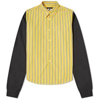 Comme Des Garcons Homme Plus Striped Patchwork Shirt Yellow