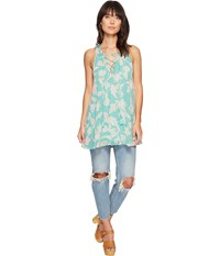 Show Me Your Mumu Rancho Mirage Lace Up Tunic Jadely Paisley Women's Blouse Green