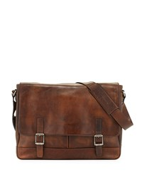 Oliver Men's Leather Messenger Bag Dark Brown Frye