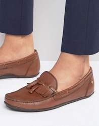 Frank Wright Nevis Loafers In Brown Leather Brown