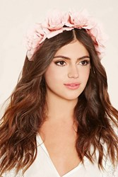 Forever 21 Flower Crown Headband Dusty Pink