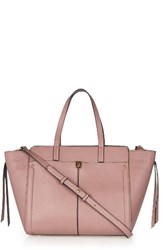Topshop Harlow Winged Faux Leather Satchel Pink Blush