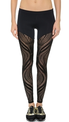 Solow Lace Leggings Black