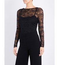 Wolford Chantilly Stretch Lace Top Black