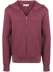 Alex Mill Zip Front Hoodie Red