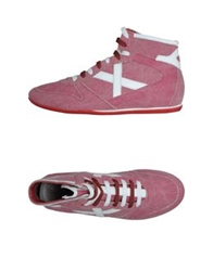 Munich High Top Sneakers Garnet