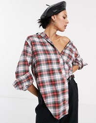 Cheap Monday Obscure Oversized Check Shirt Red