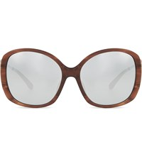 Prabal Gurung Pg23 Oversized Sunglasses Amaretto And Silver