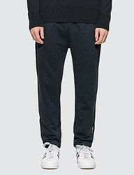 Moncler Jersey Jogger Pants With Tab Details Blue