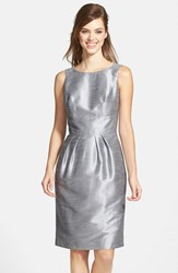 Alfred Sung Women's Boatneck Sheath Dress Quarry