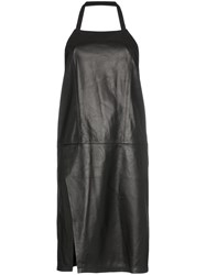 Sandy Liang Congee Leather Halterneck Dress Black