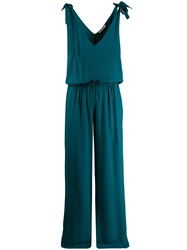 Fisico Tie Shoulder Jumpsuit Green
