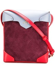 Manu Atelier Mini Pristine Crossbody Bag Red