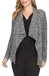 Women's Chaus Marled Open Front Cardigan