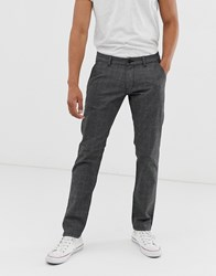 Esprit Check Trousers In Slim Fit Grey