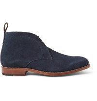Grenson Marcus Suede Chukka Boots Blue