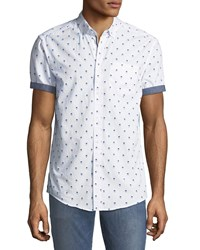 Report Collection Man In Hat Short Sleeve Oxford Shirt White