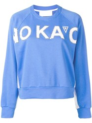 No Ka' Oi Embellished Logo Sweatshirt Blue
