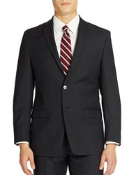 Calvin Klein Slim Fit Pinstripe Wool Blazer Midnight Blue