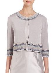 Lafayette 148 New York Embroidered Shrug Sterling