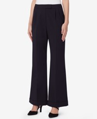 Tahari By Arthur S. Levine Asl Flared Trousers Navy