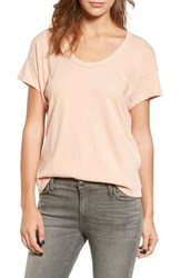 Current Elliott Women's The Slouchy Scoop Tee Stardust W Rose Gold
