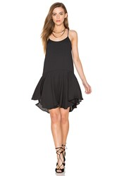 Eight Sixty Sleeveless Drop Waist Mini Dress Black