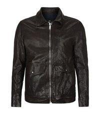 7 For All Mankind Leather Pilot Jacket Male