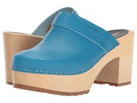 Swedish Hasbeens Louise New Turquoise Women's Clog Shoes Blue