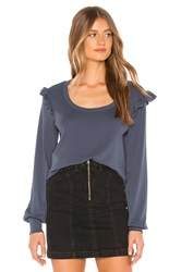 Chaser Baby Rib Ruffle Pullover Blue