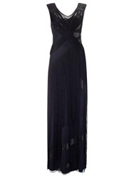 Phase Eight Collection 8 Melody Fringed Dress Black Navy
