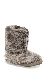 Bedroom Athletics Women's 'Cole' Faux Fur Slipper Boot Snowy Owl