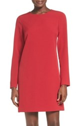 Adrianna Papell Crepe A Line Dress Petite Red