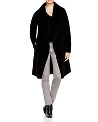 Velvet By Graham And Spencer Reversible Long Sherpa Coat
