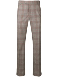 Calvin Klein 205W39nyc Plaid Tailored Trousers Black