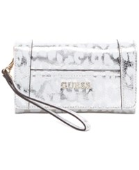 Guess Delaney Phone Organizer Silver Leo