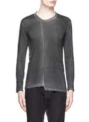 The Viridi Anne Centre Seam Cotton T Shirt Black