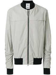 Lost And Found Rooms Long Sleeved Bomber Jacket Cotton Spandex Elastane Grey