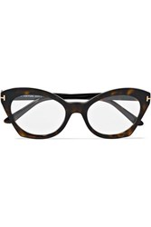 Tom Ford Cat Eye Tortoiseshell Acetate Optical Glasses One Size