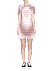Etre Cecile 'Frenchie' Badge Breton Stripe Dress Multi Colour