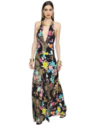 Etro Floral Printed Stretch Cady Halter Dress