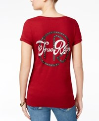 True Religion Graphic Back T Shirt Cabernet