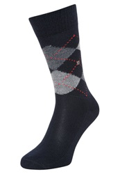 Burlington Preston Socks Marine Dark Blue