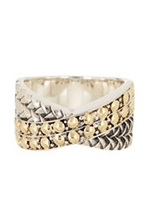Effy Sterling Silver And 18K Gold Criss Cross Ring Metallic