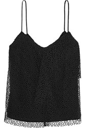Iris And Ink Draped Macrame Lace Camisole Black