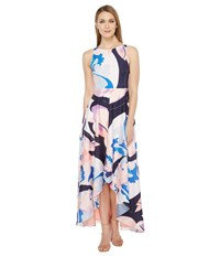 Rsvp Panna High Low Maxi Dress With Back Cut Out Blush Multi Women's Dress Pink