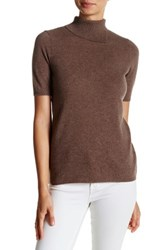 In Cashmere Turtleneck Tee Brown
