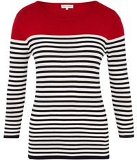 Austin Reed Stripe Jumper Red